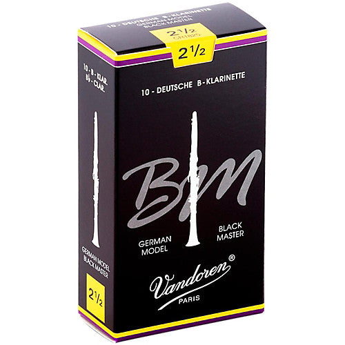 Vandoren Black Master Box of 10 Bb Clarinet Reeds