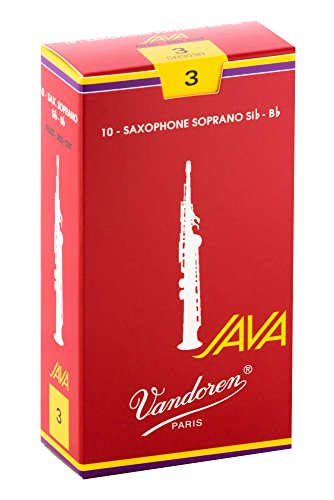 Vandoren JAVA Red Box of 10 Soprano Saxophone Reeds