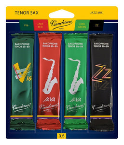 Vandoren Tenor Saxophone Jazz Reed Mix Card