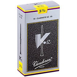 Vandoren V 12 Box of 10 Bb Clarinet Reeds