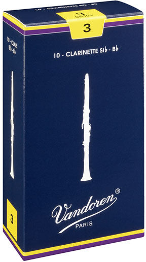 Vandoren Traditional Box of 10 Bb Clarinet Reeds