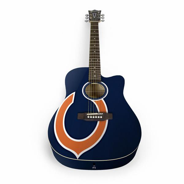 Chicago Bears Acoustic Guitar