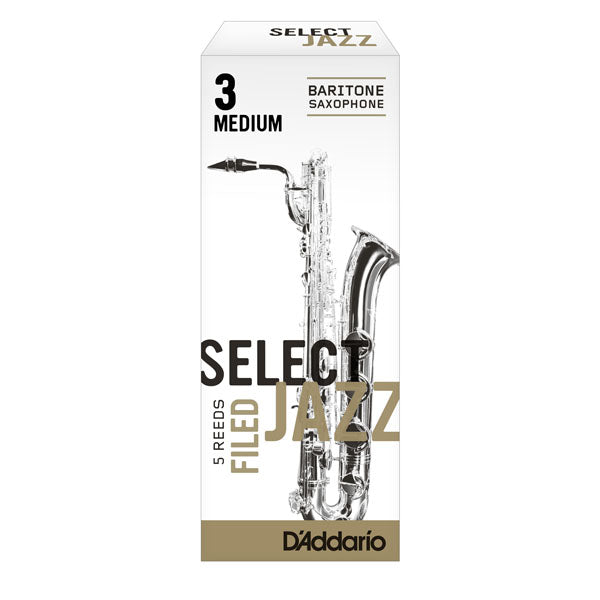 D'Addario Select Jazz Filed Baritone Sax Reeds Box of 5