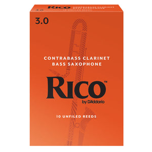 Rico Contra Alto/Bass Clarinet & Bass Sax Reeds Box of 10