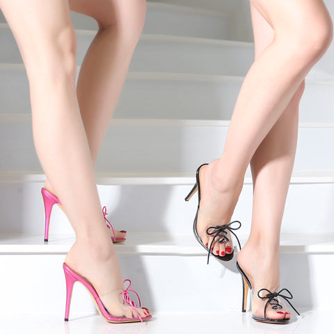 Lucite Pinup Sandals