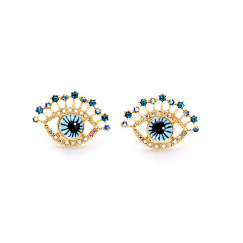 Gold Western Retro Earrings