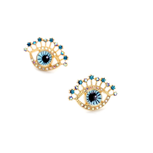 Crystal Eyes Stud Earrings