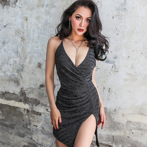 Black Sparkle Mini Dress