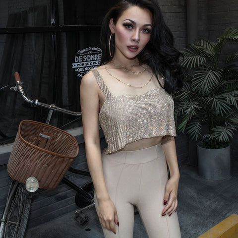Cropped Bustier Top with Chest Pad