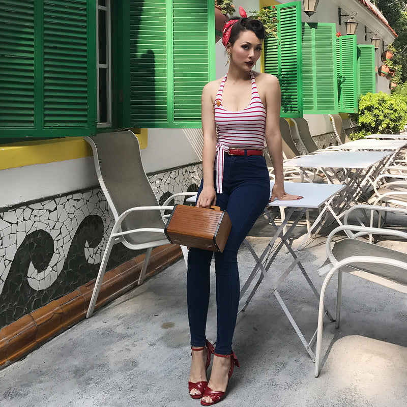 Halter Wrap Cropped Top