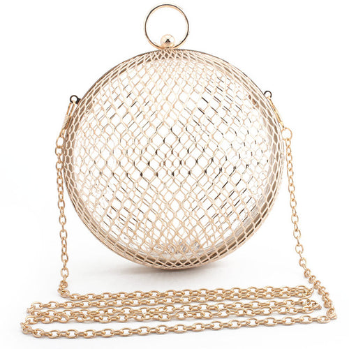 Metal Sphere Retro Clutch