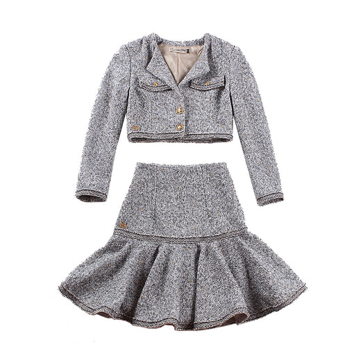 Tweed Jacket and Skirt Set