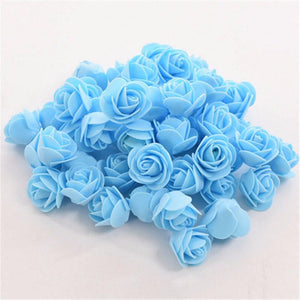 Artificial foam rose flower heads
