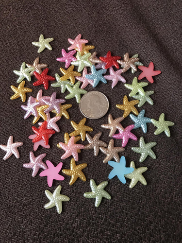 Plastic Colorful Starfish Scatters