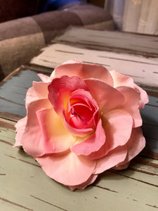 Large Rose Hair clip Rose broach pin