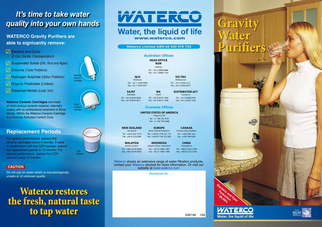 Pool Products NZ Stoneware Gravity Purifier Brochure