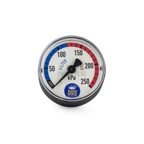 Pool Products NZ - Pressure Gauges For Pool Filters - Aussie Gold Back Mount Parts