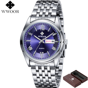 WWOOR Stainless Steel Day & Date-vntrcash-vntrcash