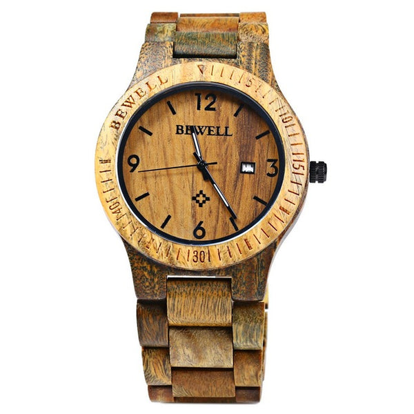 Luxurious 100% Real Wooden Wristwatch