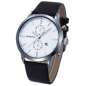 Montre Homme Genuine Leather Classy Quartz Wristwatch