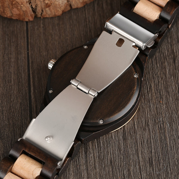 Yisuya Luxury Maple Quartz Wooden Wristwatch