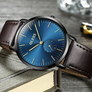 Ultra Thin Lightweight & Luxurious Leather Quartz Wristwatch