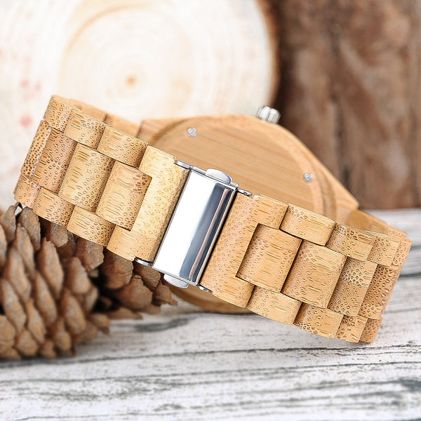 Yisuya Casual Wooden Wristwatch