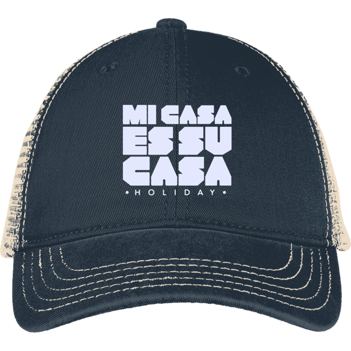 Classic Mi Casa Holiday District Mesh Back Cap White Embroidery