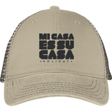 Classic Mi Casa Holiday District Mesh Back Cap- Black Embroidery