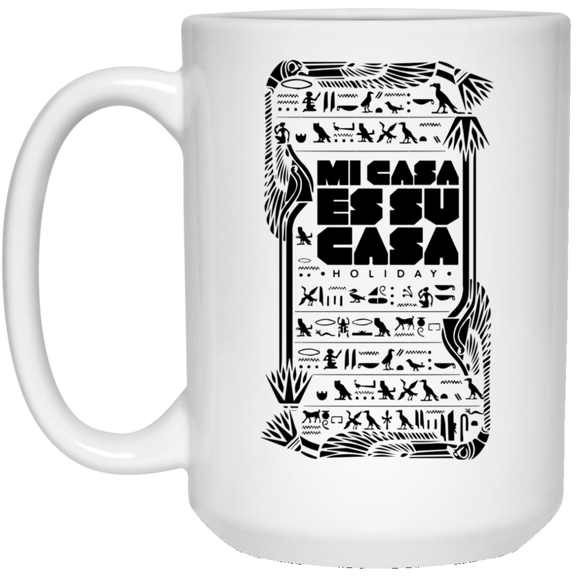 MCH Hieroyglyphic 15 oz. White Mug