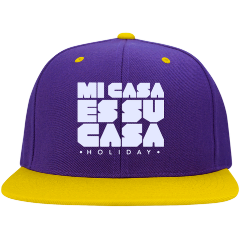 Classic Mi Casa Holiday Sport-Tek Flat Bill High-Profile Snapback Hat