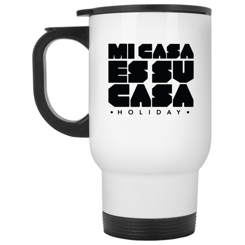 Classic Mi Casa Holiday White Travel Mug