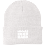 Classic MCH Embroidered Knit Cap - White Logo