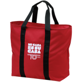 Mi Casa Holiday All Purpose Tote Bag 10 yr Anniversary Edition- White