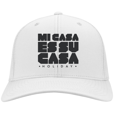 Classic Mi Casa Holiday Flex Fit Twill Baseball Cap- Black Embroidery