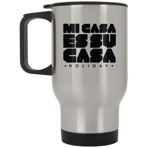 Classic Mi Casa Holiday Silver Stainless Travel Mug