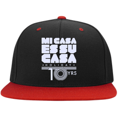 Mi Casa Holiday 10yrs Sport-Tek Flat Bill High-Profile Snapback Hat