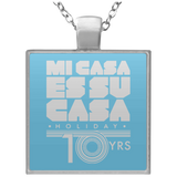 MCH 10 yrs White Square Keepsake Necklace
