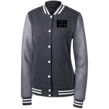 LST270 Sport-Tek Women's Fleece Letterman Jacket- Black Logo