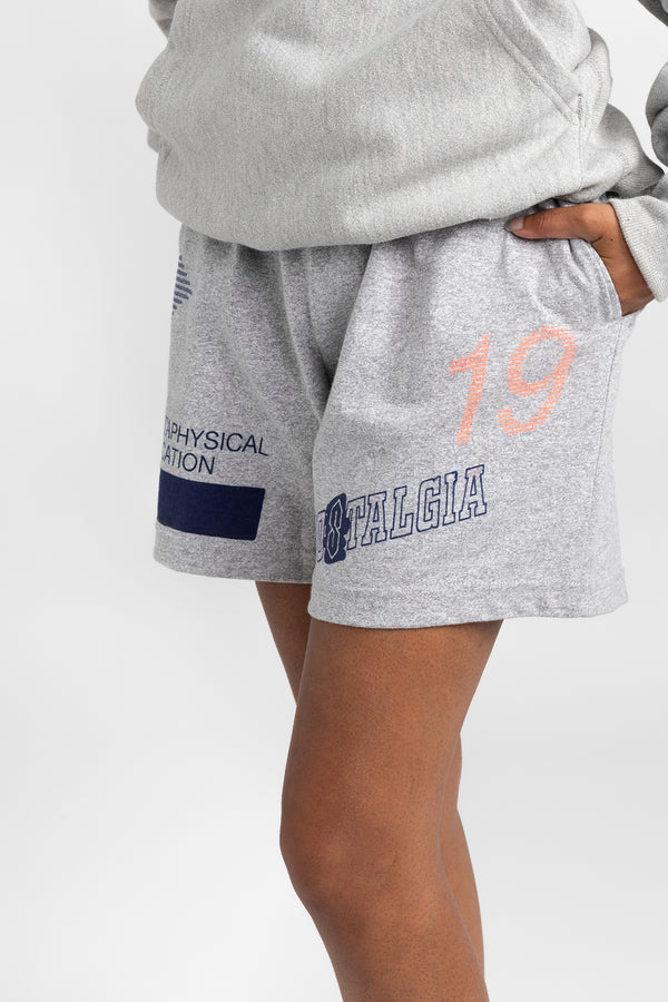 NOSTALGIA SHORTS - HEATHER GREY