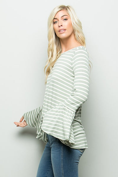 Kayla Long Bell Top