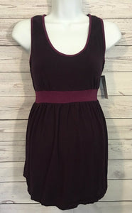 Liz Lange Maternity Dark Purple Tank Top with Plum Edges - Size S