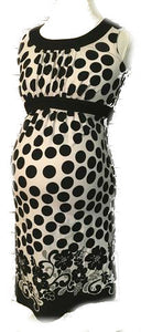 Motherhood Maternity Black & White Dress - Women's S