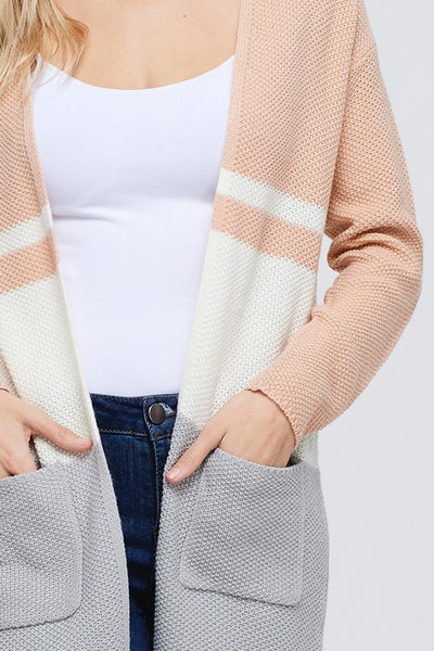 Shelby Open Front Cardigan
