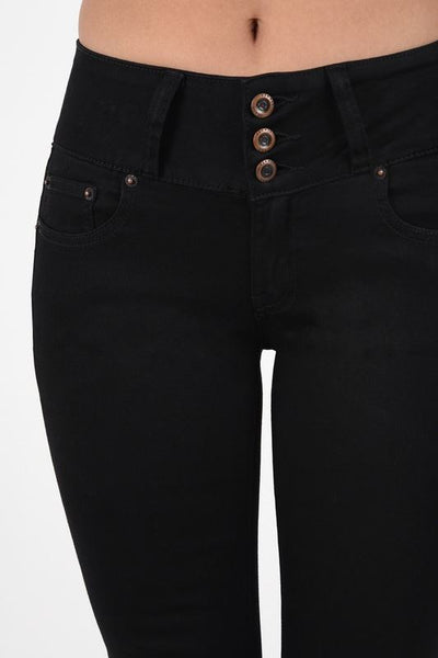 Black Zip Button fly Hip up Black pants