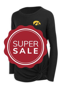 IOWA/ISU Bristol Knotted Top