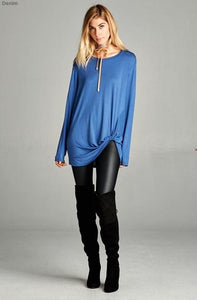 Twist long sleeve top