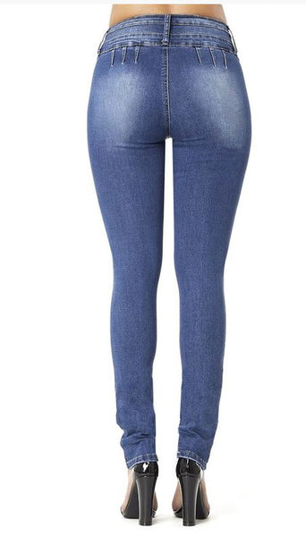 Distressed  Hip Skinny Jeans