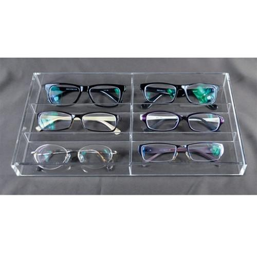 "#TR-6022AC Acrylic Eyewear Tray For Six Frames 13 1/2"" x 7 1/2"" x 2 1/8""H"