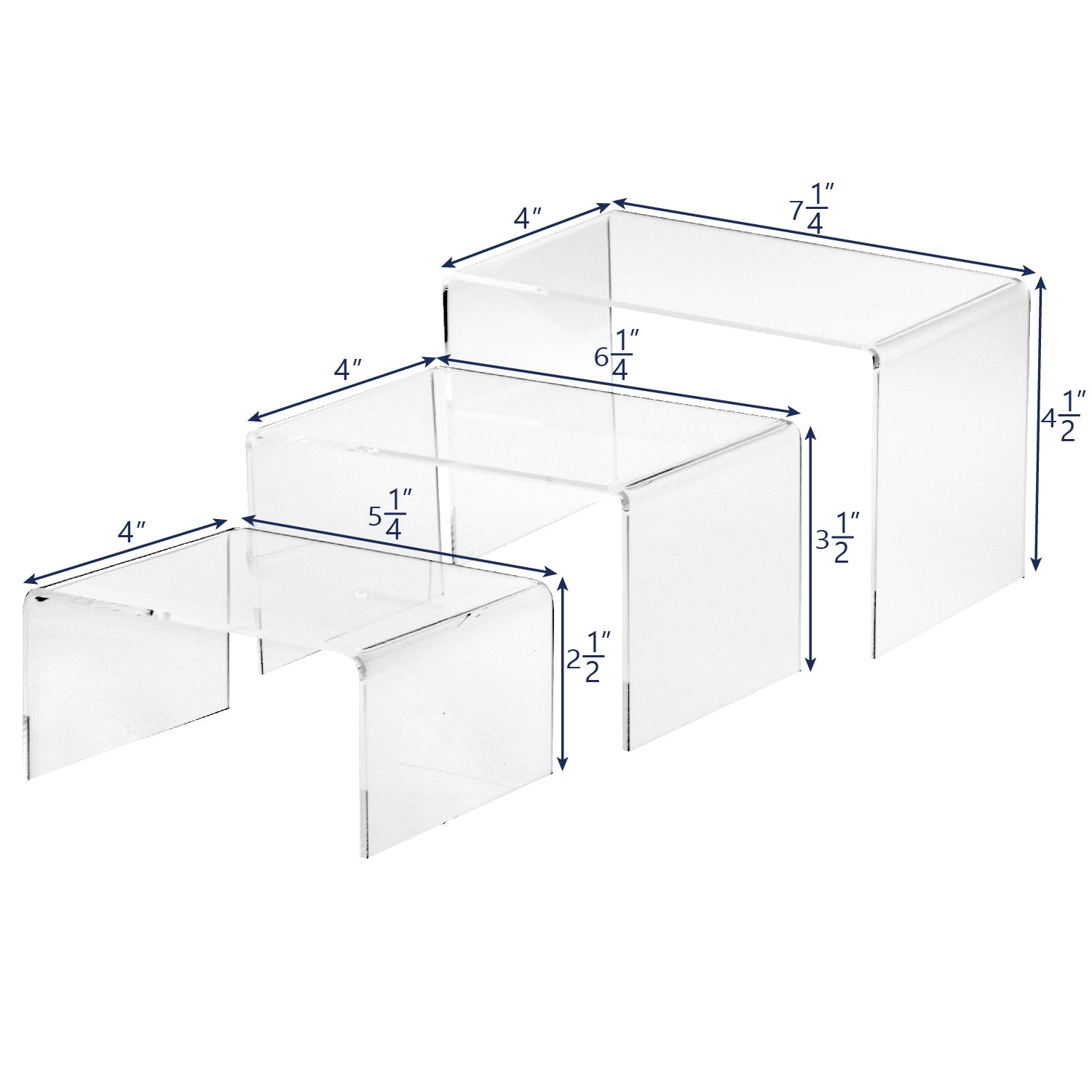 #1102 Acrylic Eyewear U-Shaped Risers